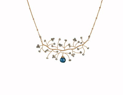 Labradorite & London Blue Topaz necklace by Lina