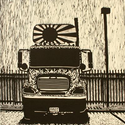 Colleen Kennedy Premer linocut relief print