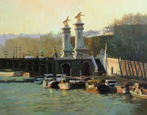 Jie Zhou European Paris traditional oil painting
