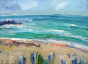 Deborah Harold contemporary coastal oil painting