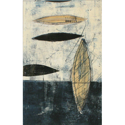 Colleen Kennedy Premer monoprint chine colle abstract