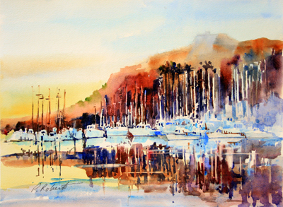Pete Roberts watercolor painting, local art