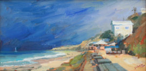 Janine Salzman contemporary coastal oil painting