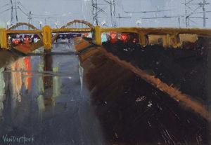 Kim VanDerHoek contemporary oil painting LA River