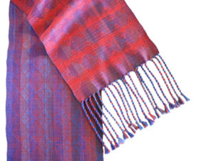 Susan Horton woven scarf woven textile