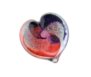 Robert Held blown glass hearts